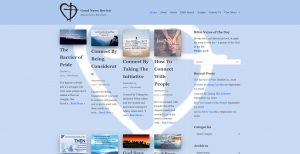 Screenshot of Good News Review Christian Blog Website | Created and maintained by HBB Website Solutions